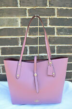 NWT COACH 58849 Market Tote Bag Polished Pebble Leather Rose Pink Light Gold