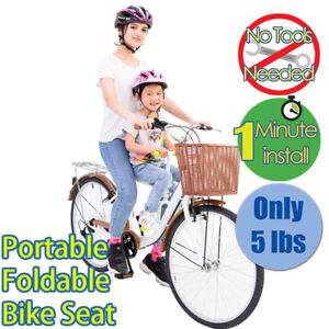 PaPaSeat Portable Front Mount Kid Child City, Hybrid Bike Seat Carrier