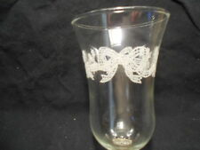 Etched Bows Ribbons Votive Cups candle Holders Vintage Home Interiors lot of 2