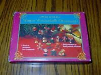 Giftco - Set of 18 Winter Wonderland Ornaments / Package Ties (New/Unused)