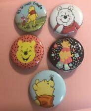 Disney Winnie The Pooh Piglet Button Lapel Pin Set Lot 5