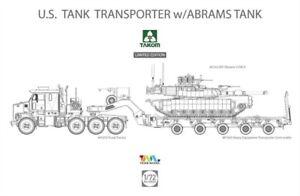 Takom 5002x - 1:72 US M1070&M1000 70 Tone Tank Transporter W/ Abrams Tank - New