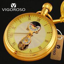 High Quality Genuine Titanium Antique Vintage Mens Mechanical Pocket Watch Hand