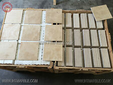 Ivory Premium Select, Honed Filled Travertine Tile , Marble, 100x100xmm SAMPLE