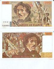 Gertbrolen 100 FRANCS EUGENE  DELACROIX de 1984   D.75 Billet N° 1853726993