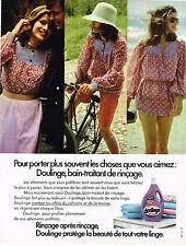 PUBLICITE ADVERTISING 054   1973  DOULINGE   assouplissant linge
