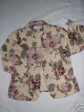SAG HARBOR Pale Pink Floral Boucle Jacket  SZ 6P CHIC!