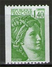 TIMBRE 2157a NEUF XX LUXE - SABINE DE GANDON - ROULETTE N° ROUGE AU VERSO