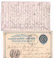 Estados Unidos. Entero Postal circulado a Basilea