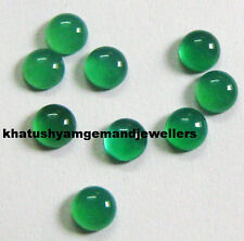 AAA Quality 25 Piece Natural Green Onyx 4X4 MM Round Cabochon Loose Gemstone