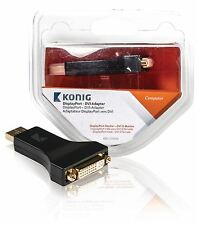 Konig DisplayPort to DVI adapter DisplayPort male to DVI-D female x1 grey