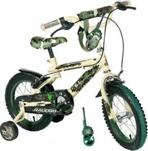 Raleigh G.I. 12 Inch wheels Kids Bike Camouflage Army Green Free Delivery