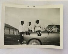 Vintage African American  Photograph 3 Kids On a Car