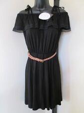 BNWT LADIES BLACK GYPSY / HIPPY STYLE DRESS SIZE 8 EU 36 THREE WAYS TO WEAR