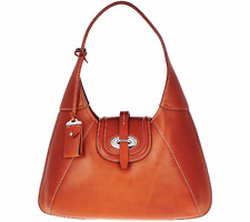 Dooney & Bourke Florentine Toscana Front Stitch Hobo Bag--Ginger