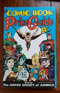 1974 Overstreet Comic Book Guide 4th Edition Hardcover Justice League Cover Rare