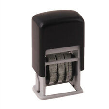 Mini Self-Inking Plastic Date Stamp Printer Number&Punctuation Printer Black 3MM