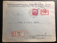 1926 Pecs Hungary Commercial Bank Cover Locally Used