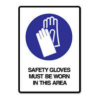Safety Gloves Sticker Decal Safety Sign Car Vinyl #7659NM