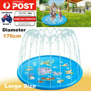 "68"" Inflatable Water Spray Cushion Pad Kids Sprinkler Play Mat Outdoor Pool Toy"