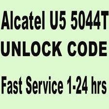 Unlock vodafone alcatel U5 OT 5044T  IMEI unlock code - Processing time: 1-24hrs