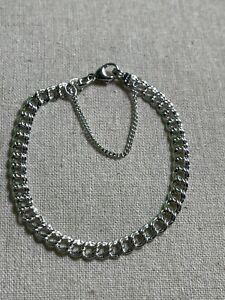 "James Avery Sterling Silver Light Double Link Curb Charm Bracelet  7 1/4"""