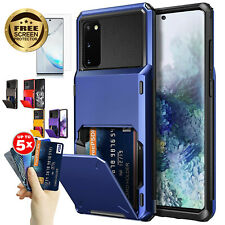 Wallet Slot Cards Holder Bumper Case Cover for Galaxy S20 Note9 Screen Protector