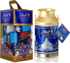Lindt Swiss Premium Chocolate 850g + Milchkanne 350g und Refillbox Tower 500 g.