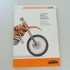 KTM 125 200 250 300 SX EXC MXC Wartungsanleitung Handbuch Bedienungsanleitung 05