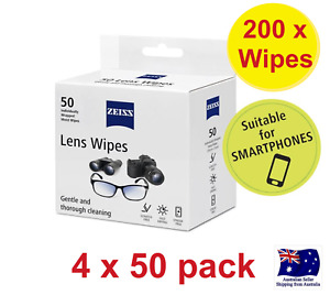 200 X ZEISS LENS WIPES CLEANING OPTICAL GLASSES CAMERA IPHONE MOBILE- 200 WIPES
