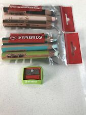 STABILO Woody 3-in-1 Pencils in 6 Assorted Colours + Sharpener