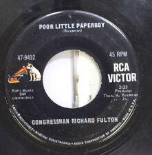 50'S & 60'S 45 Poor Little Paperboy - Congressman Richard Fulton / A Dozen Yello