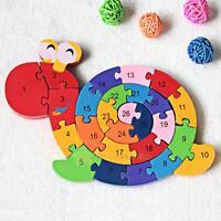Kids Baby Boy Girl Blocks Alphanumeric Snail Child Educational Puzzle Jigsaw Toy