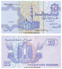 Egypt 25 Piastres 2005 P-57f Banknotes UNC