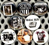 Bikini Kill 8 NEW button pin badge punk hardcore riot grrrl feminist