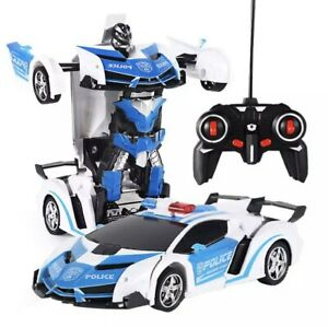 Toys for Boys Age 3 4 5 6 7 8 9 Year Old Kids Police Car Transformation 2 In1