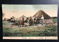 1908 Cape Of good Hope South Africa RPPC Postcard Cover to England Pigs & piccan
