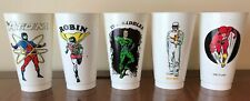 5 DC Hero 7-11 cups, 1973, Flash, Robin, Riddler, Atom, Heat Wave, RARE!