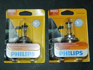 (2) PHILIPS STANDARD 9003 HEADLIGHT FOG BULBS 9003B1 12V 60/55W RUNNING LIGHT