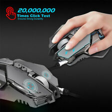 ZERODATE X300GY USB Wired 4000DI 7Button Optical Gaming Mouse Mice LED Backlight