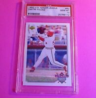 1992 Upper Deck Minor League Dmitri Young #62 RC PSA 10 GEM MINT Rookie