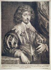 Kupferstich, Antoine de Bourbon, A. van Dyck/ P. de Bailliu, ~1640, H 97