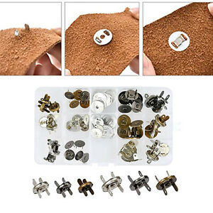 30pcs Snap Buttons Press Studs Sewing Leather Craft Clothing Snaps Fasteners