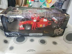 Hot Wheels 1/18 Scale Diecast - 55698 Ferrari F1 Spa Francorchamps 2001