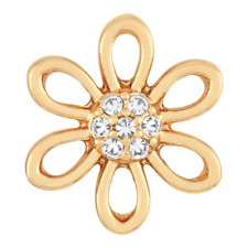 Buy 4 Get 5th $5.95 Snap Free Petite Ginger Snap Gold Cut Out Petal Gp15-49