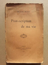 Post scriptum de ma vie Hugo Calmann Levy 1901
