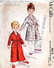 50s McCalls Sewing Pattern 4613 Boys' or Girls' Robe Two Lengths Size 2