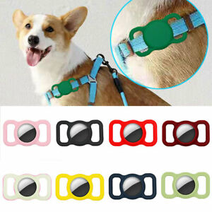 For Apple AirTag Portable Pet Collar Protective Loss Proof Loop Silicone Holder