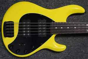 Ernie Ball Music Man StingRay 5 HH Special, HD Yellow with Rosewood