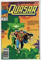 Quasar #15 (Oct 1990 Marvel) Rocket Raccoon [Journey into Mystery] Newsstand F